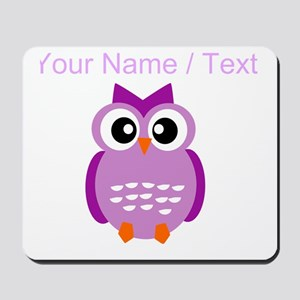 Custom Purple Owl Mousepad