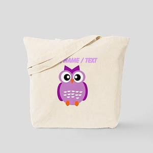 Custom Purple Owl Tote Bag