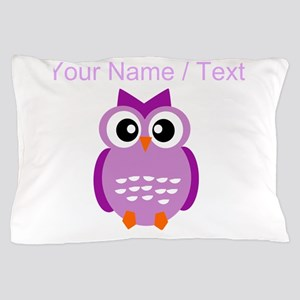Custom Purple Owl Pillow Case