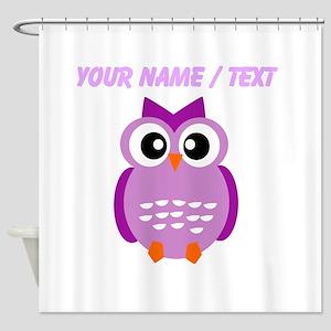 Custom Purple Owl Shower Curtain