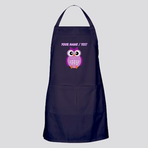 Custom Purple Owl Apron (dark)