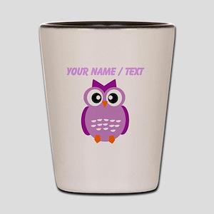 Custom Purple Owl Shot Glass