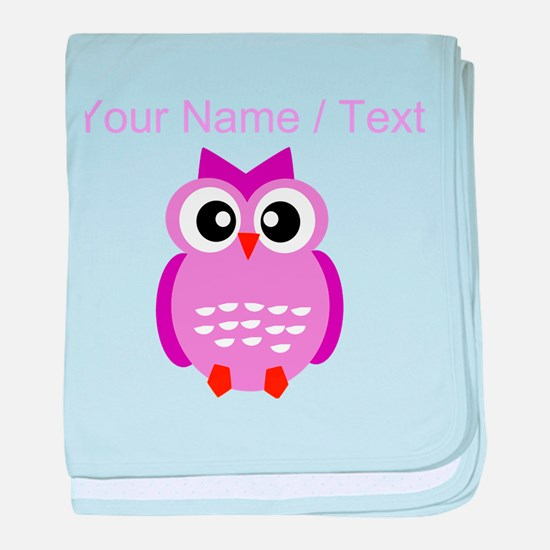 Custom Purple Owl baby blanket