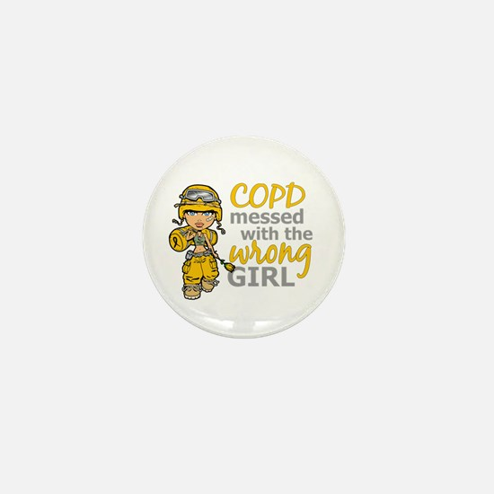 Combat Girl COPD Mini Button