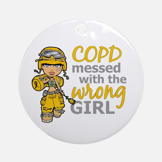 Combat Girl COPD Ornament (Round)