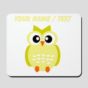 Custom Yellow Owl Mousepad