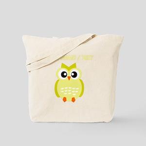 Custom Yellow Owl Tote Bag