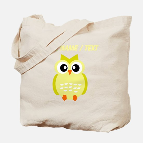 Custom Yellow Owl Tote Bag