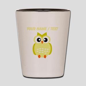 Custom Yellow Owl Shot Glass