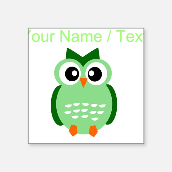 Custom Green Owl Sticker