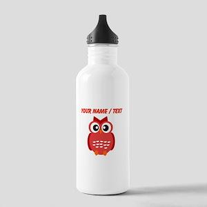 Custom Red Owl Water Bottle