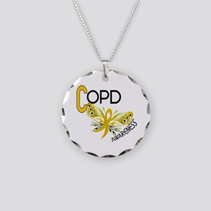 Butterfly 3.1 COPD Necklace Circle Charm