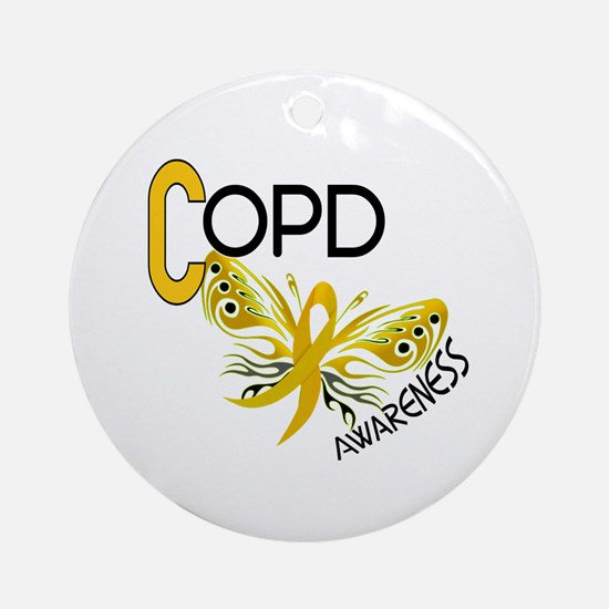 Butterfly 3.1 COPD Ornament (Round)