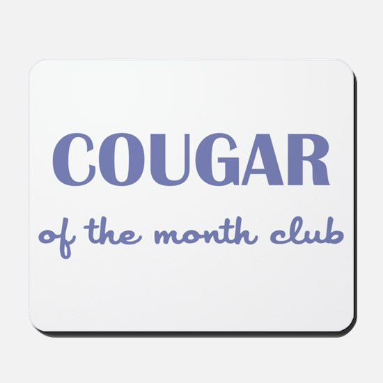 COUGAR of the MONTH CLUB Mousepad