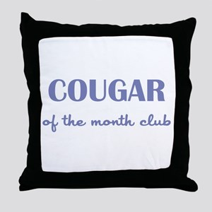 COUGAR of the MONTH CLUB Throw Pillow