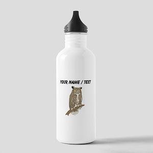 Custom Eurasian Eagle-Owl Water Bottle