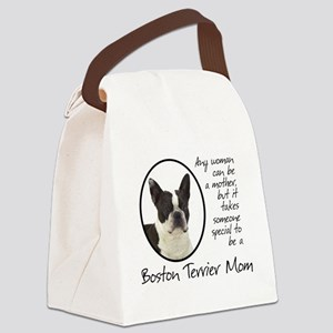 Boston Terrier Mom Canvas Lunch Bag