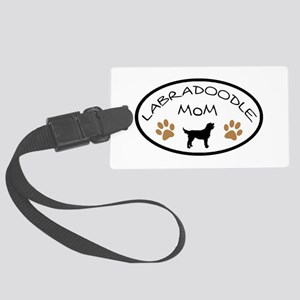 Labradoodle Mom Oval Luggage Tag