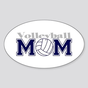 Volleyball Mom II Oval Sticker