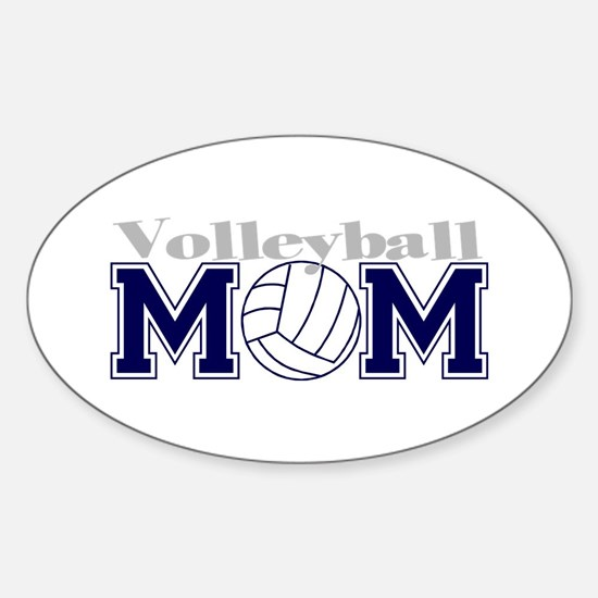 Volleyball Mom II Oval Decal