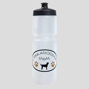 Labradoodle Mom Oval Sports Bottle