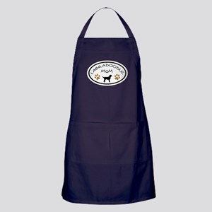 Labradoodle Mom Oval Apron (dark)