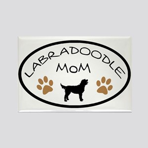 Labradoodle Mom Oval Magnets