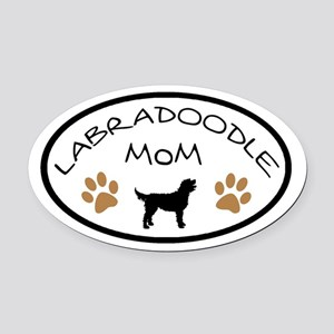 Labradoodle Mom Oval Oval Car Magnet