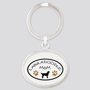 Labradoodle Mom Oval Keychains