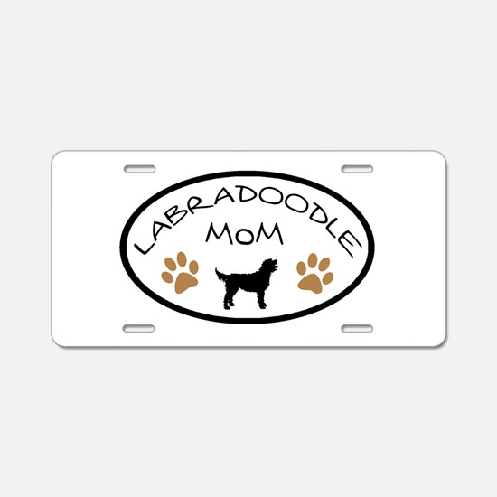 Labradoodle Mom Oval Aluminum License Plate