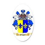 Fugger Oval Car Magnet