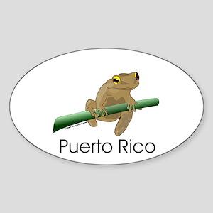 Coqui Boricua Oval Sticker