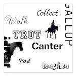 Horse Design #52000 Square Car Magnet 3