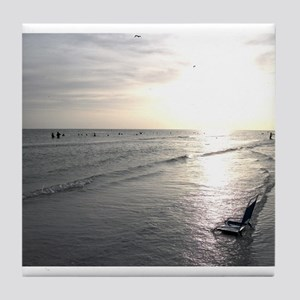 Sunset On The Beach Tile Coaster
