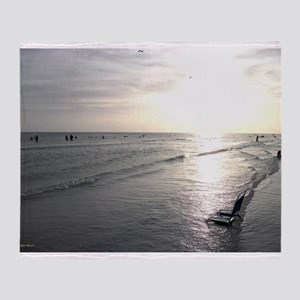 Sunset On The Beach Throw Blanket