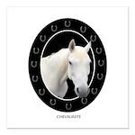 Horse Theme Design #4100 Square Car Magnet 3