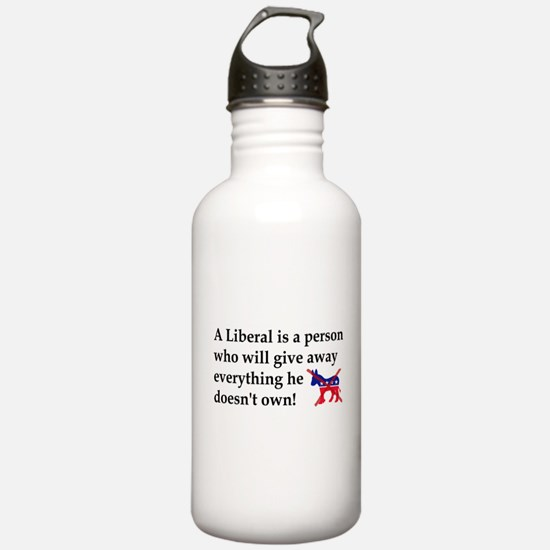 anti liberal give away Water Bottle