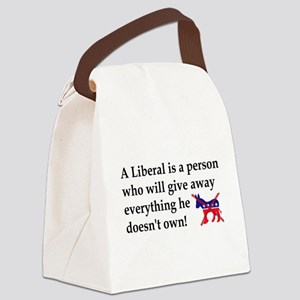 anti liberal give away Canvas Lunch Bag