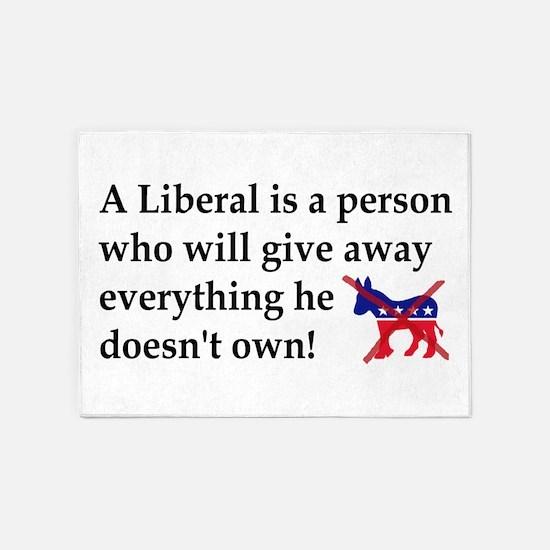 anti liberal give away 5'x7'Area Rug