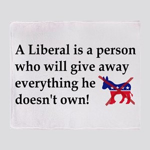 anti liberal give away Throw Blanket