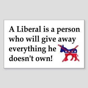 anti liberal give away Sticker