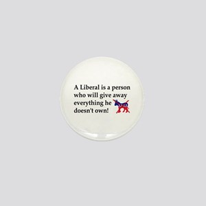 anti liberal give away Mini Button