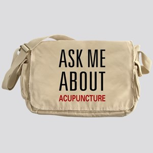 Ask Me Acupuncture Messenger Bag