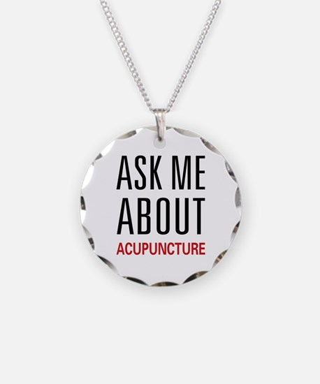 Ask Me Acupuncture Necklace