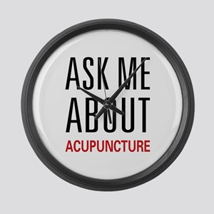 Ask Me Acupuncture Large Wall Clock