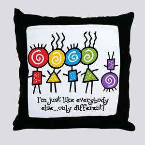 Same Only Different Throw Pillow