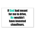 God/Chauffeurs Rectangle Sticker