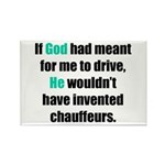 God/Chauffeurs Rectangle Magnet (100 pack)