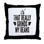 Grinding Coffee Beans Throw Pillow