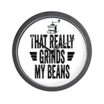 Grinding Coffee Beans Wall Clock